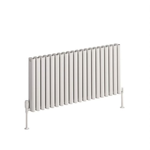 Reina Alco Horizontal Designer Radiator - 600mm High x 400mm Wide - White